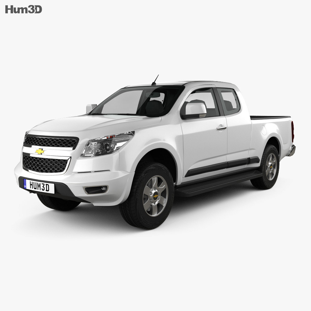 Chevrolet Colorado S-10 Extended Cab 2013 3d model