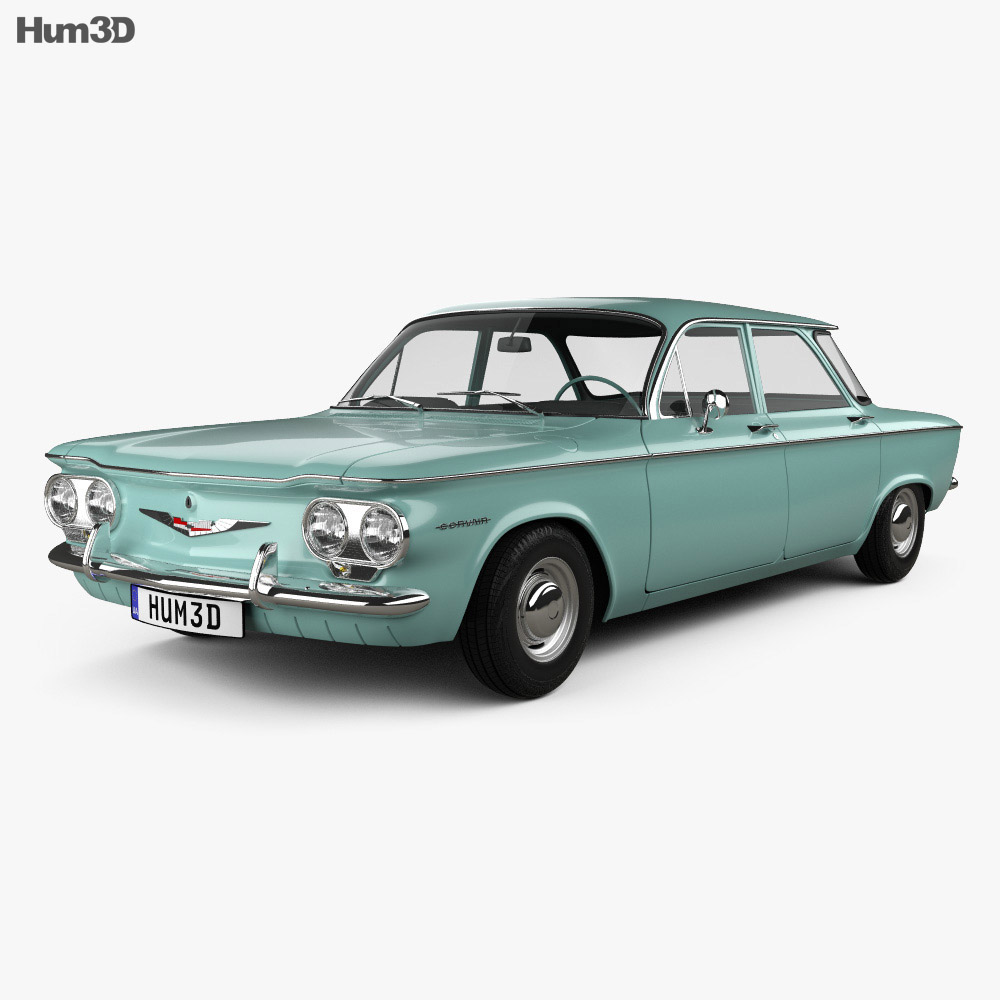 Chevrolet Corvair sedan 1960 3d model