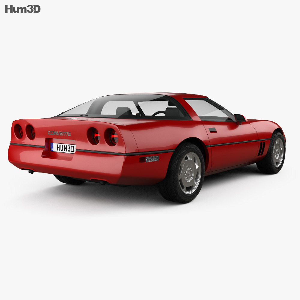 Chevrolet Corvette (C4) coupe 1983 3d model