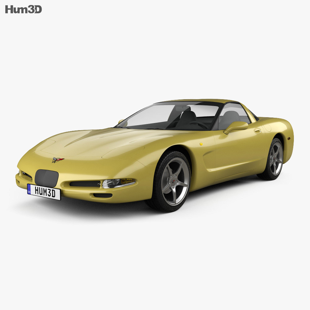 Chevrolet Corvette coupe 1997 3d model