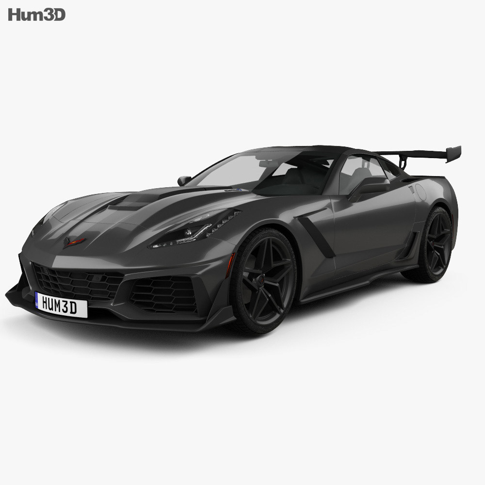 chevrolet corvette c7 zr1 coupe 2017 3d model hum3d. Black Bedroom Furniture Sets. Home Design Ideas