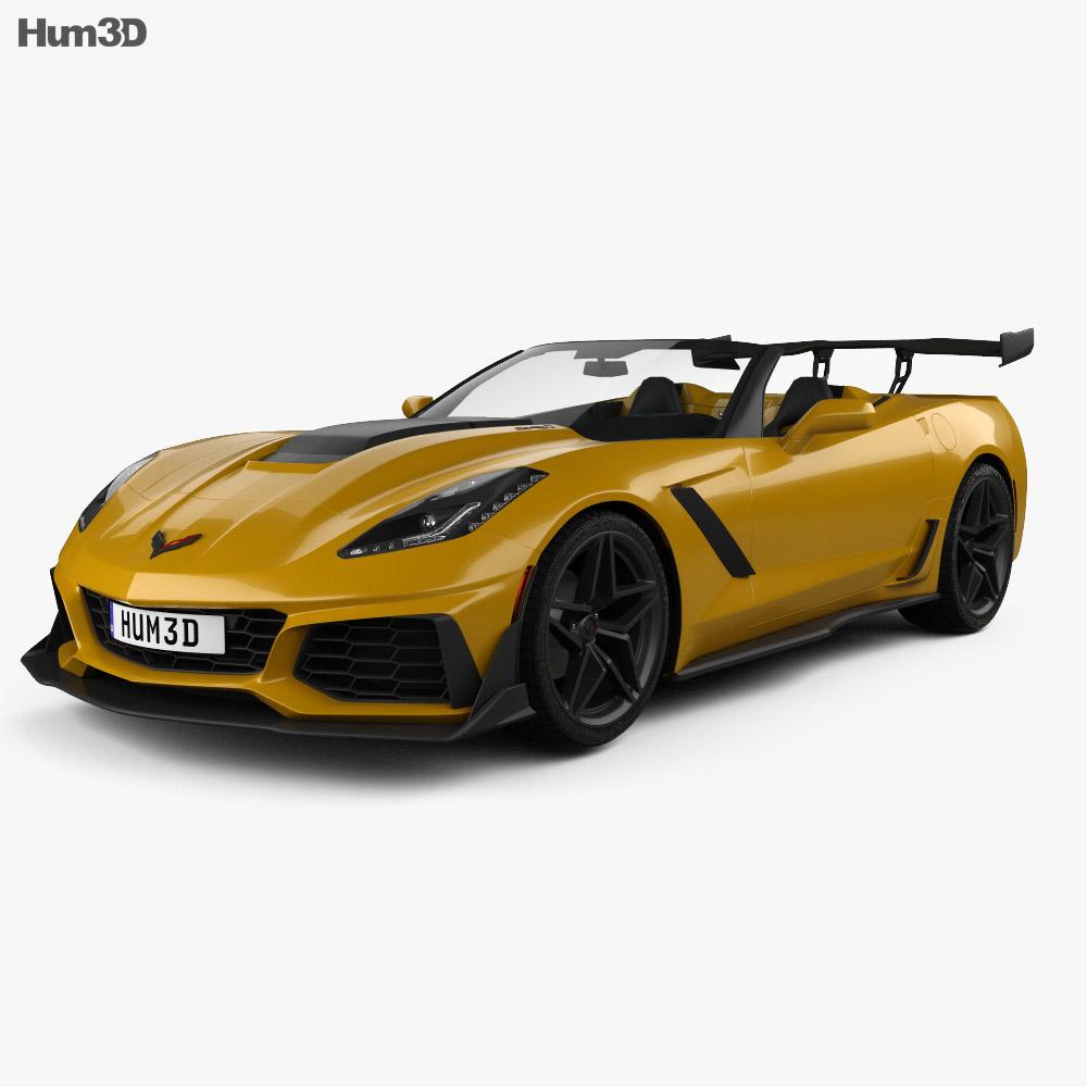 chevrolet corvette c7 convertible zr1 2017 3d model vehicles on hum3d. Black Bedroom Furniture Sets. Home Design Ideas