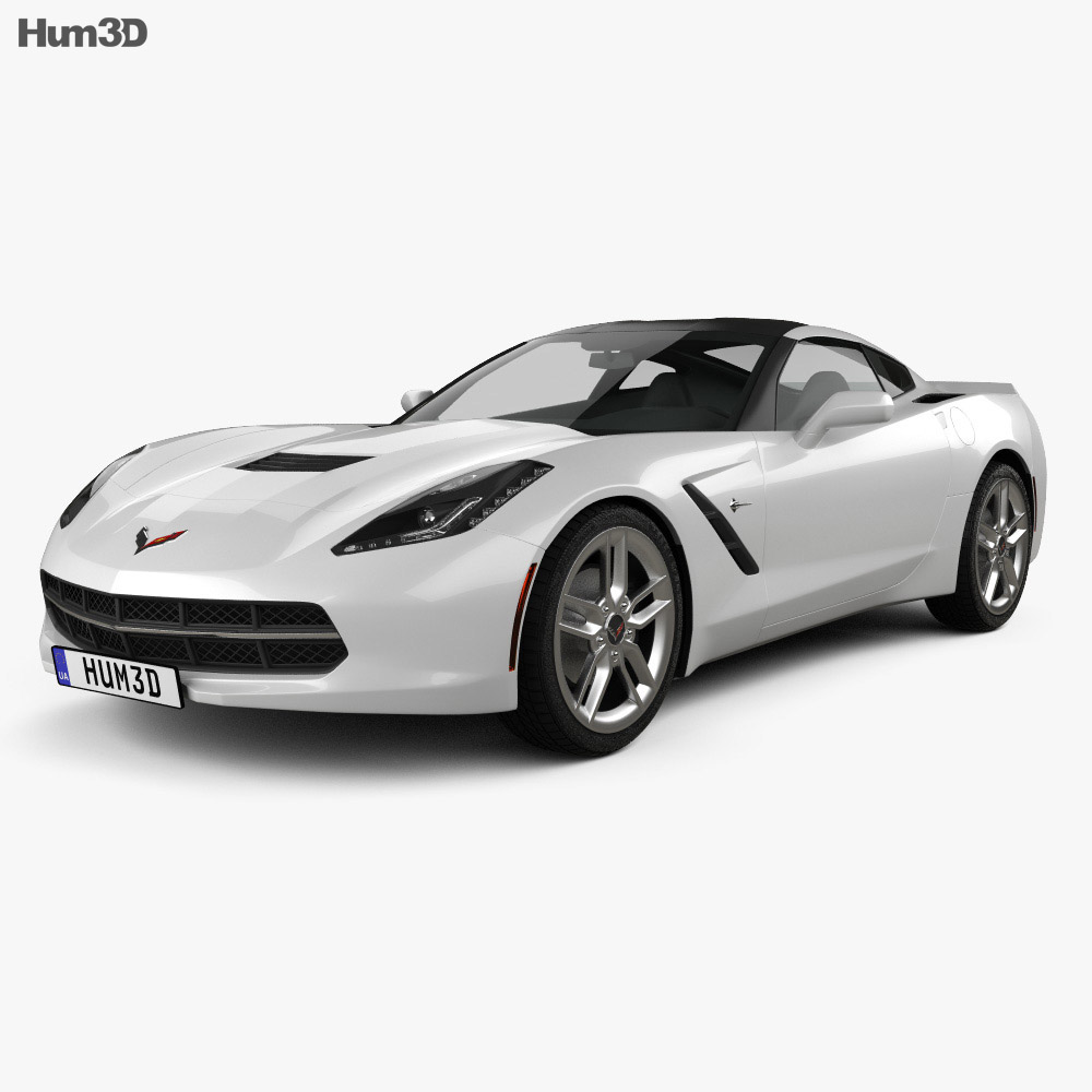 Chevrolet Corvette Stingray C7 Coupe 2014 3d Model