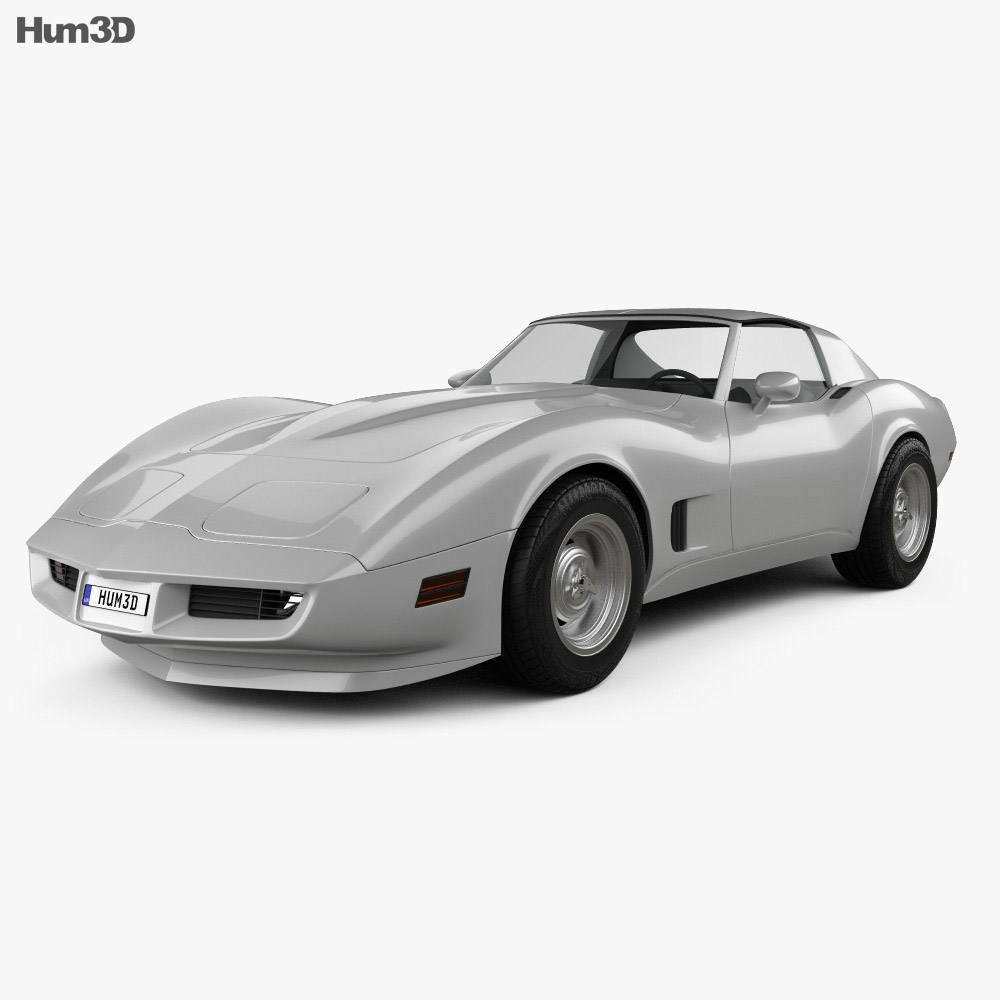 Chevrolet Corvette Stingray (C3) Coupe 1974 3d model