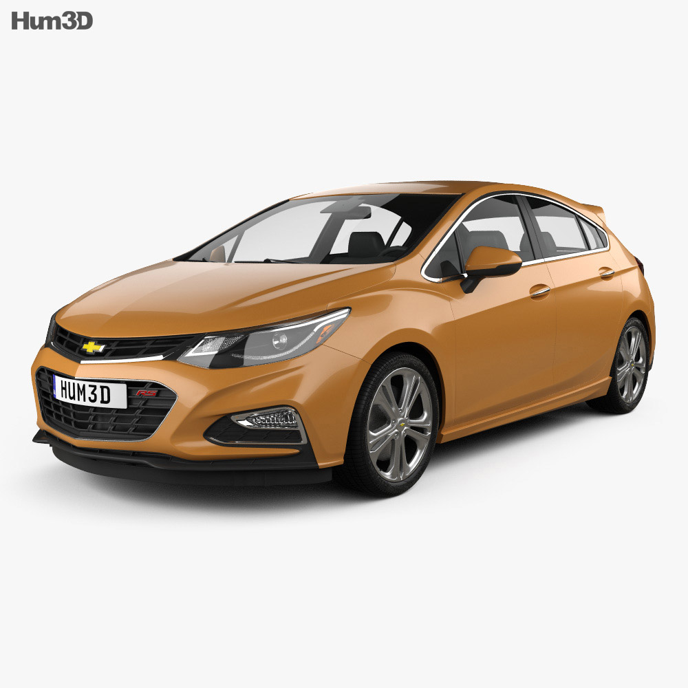Chevrolet Cruze Hatchback RS 2017 3D model - Humster3D