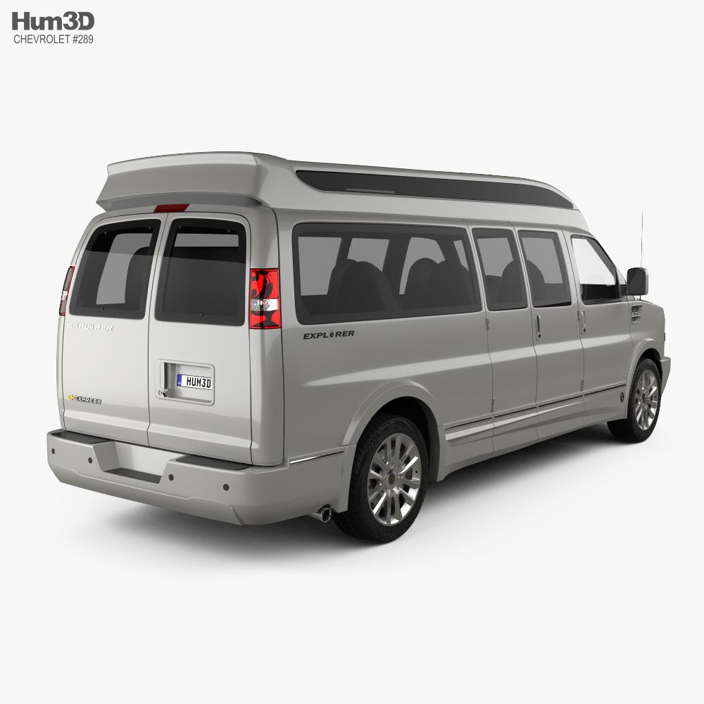 Chevrolet Express Explorer Limited SE LWB 2019 3d model