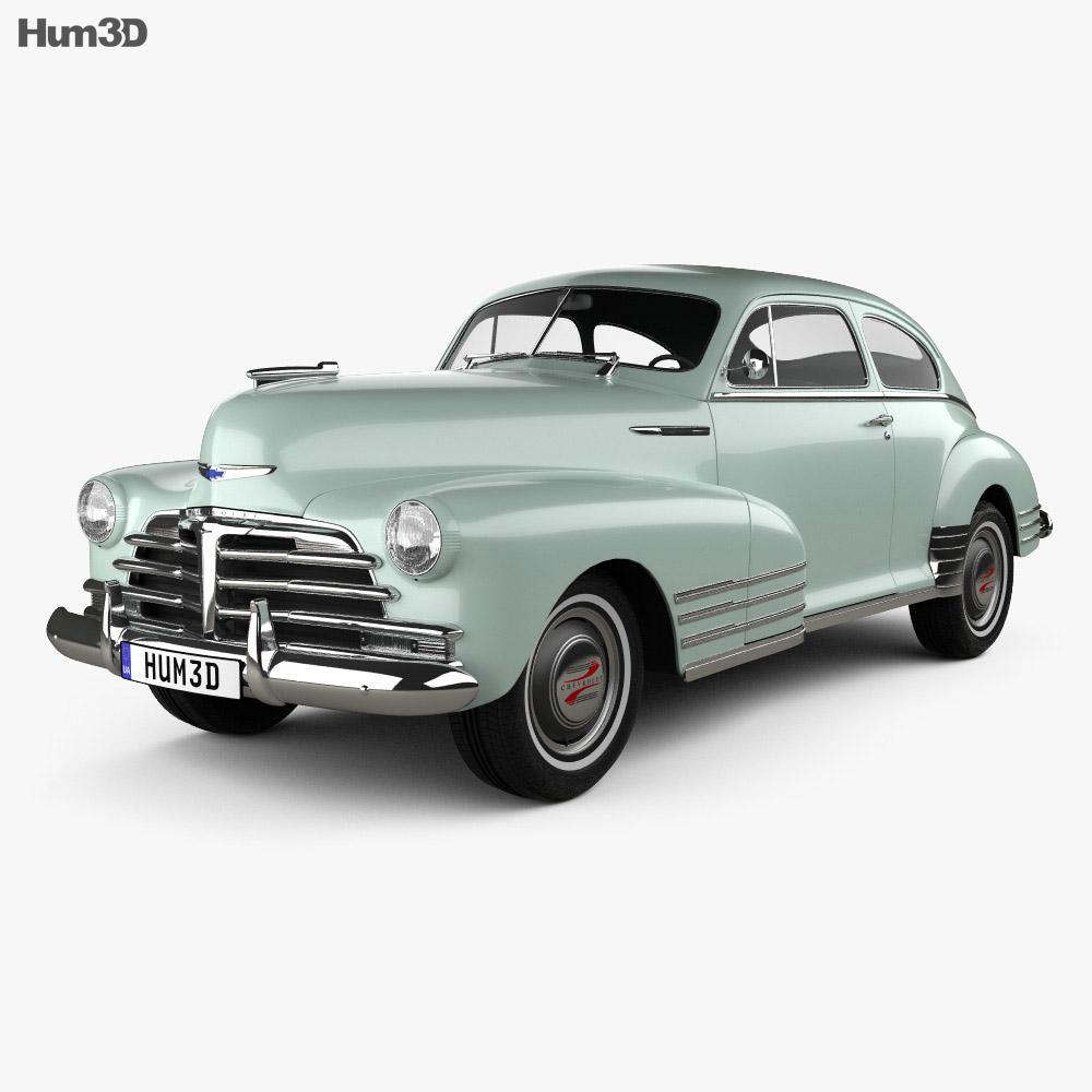 Chevrolet Fleetline 2 Door Aero Sedan 1948 3d Model