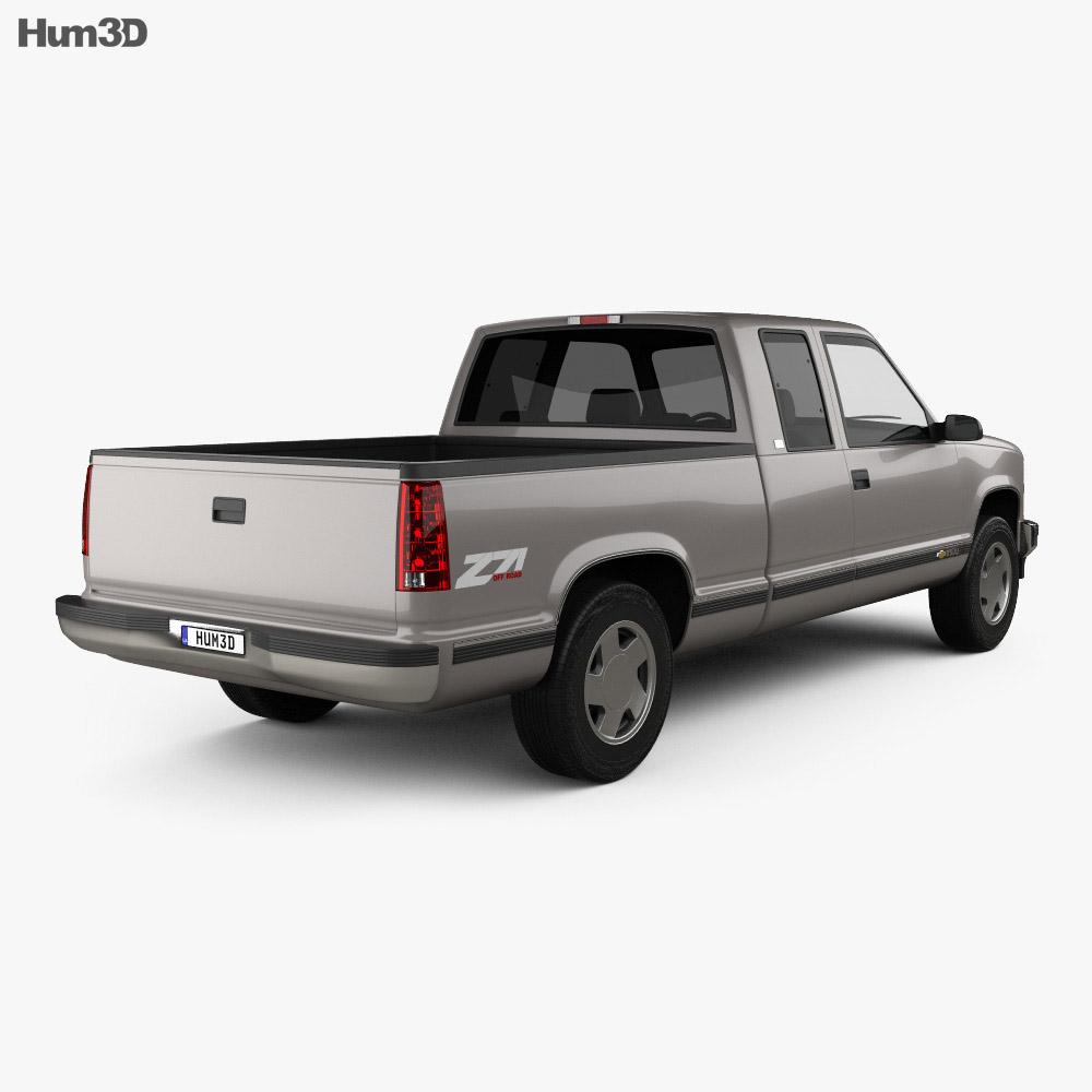 Chevrolet C1500 (K1500) Extended Cab 1988 3d model