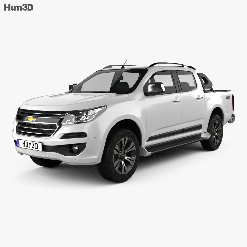 Chevrolet Colorado S-10 Double Cab LTZ 2016 3d model