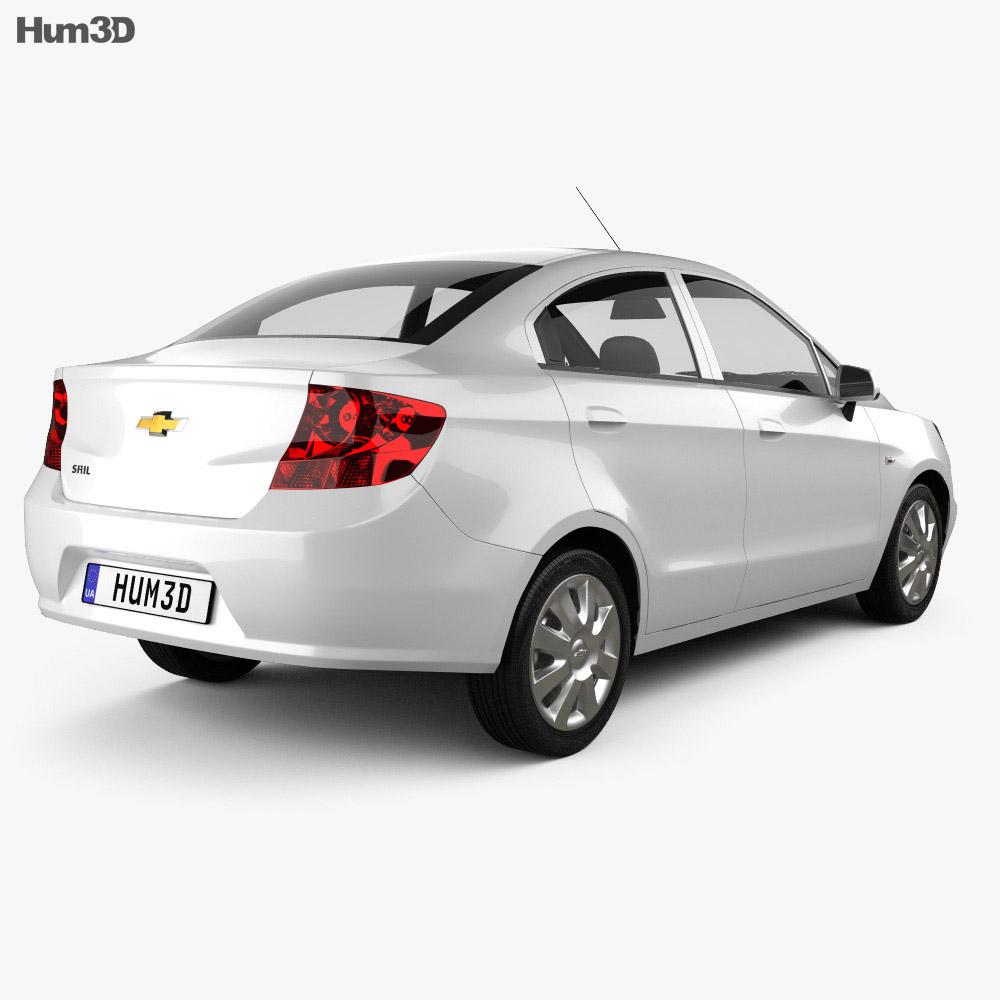 Chevrolet Sail sedan 2011 3d model