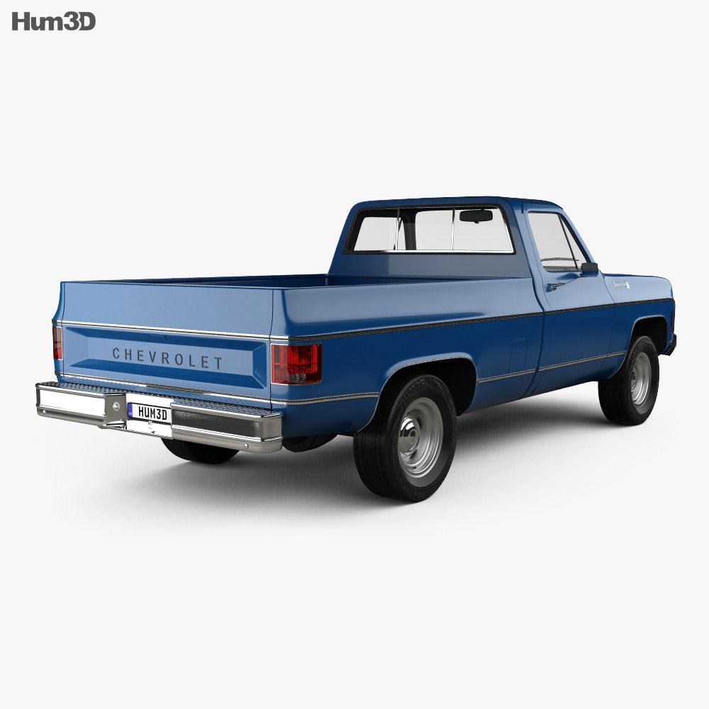 Chevrolet C/K Scottsdale Single Cab Standart Bed 1979 3d model