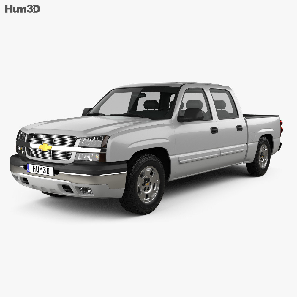 Chevrolet Silverado 1500 Crew Cab Short Bed 2002 3d model