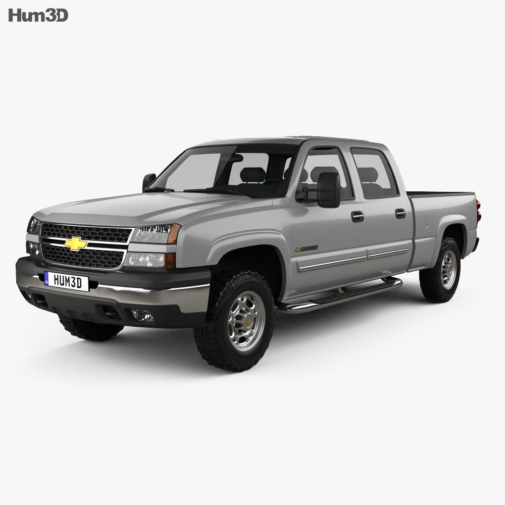 Chevrolet Silverado 2500 Crew Cab Long Bed 2002 3d model