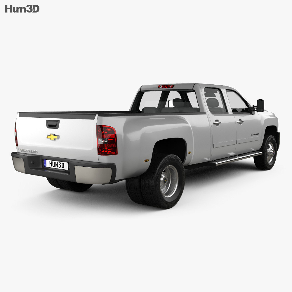 Chevrolet Silverado Crew Cab Dually 2010 3d model