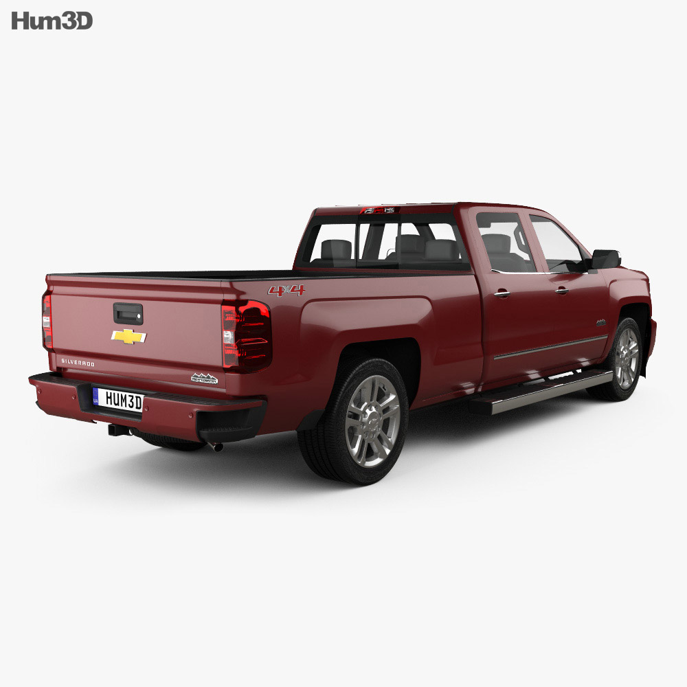 chevrolet silverado 2500hd crew cab long box high country 2017 3d model hum3d. Black Bedroom Furniture Sets. Home Design Ideas