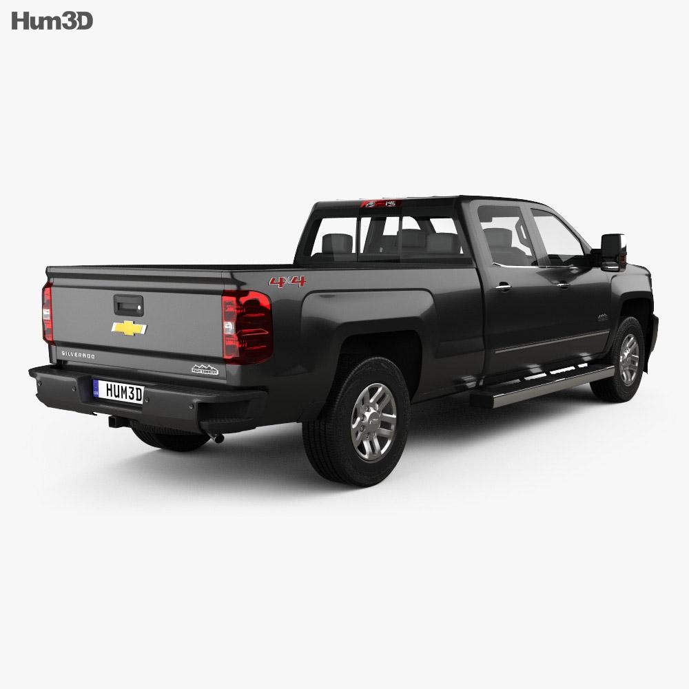 Chevrolet Silverado 3500HD Crew Cab Long Box High Country 2017 3d model