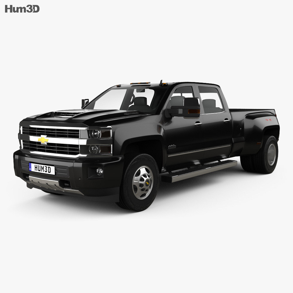chevrolet silverado 3500hd crew cab long box high country dually diesel 2017 3d model hum3d. Black Bedroom Furniture Sets. Home Design Ideas