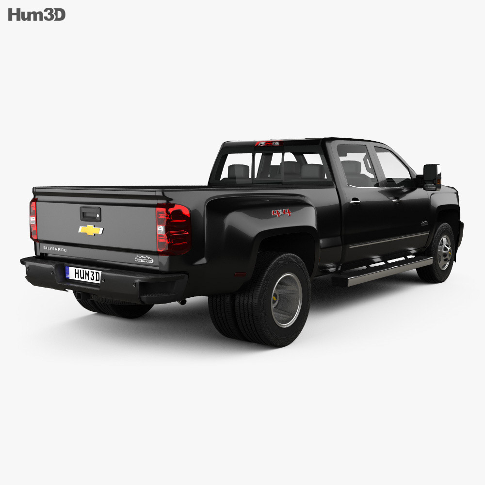 chevrolet silverado 3500hd crew cab long box high country dually diesel 2017 3d model vehicles. Black Bedroom Furniture Sets. Home Design Ideas