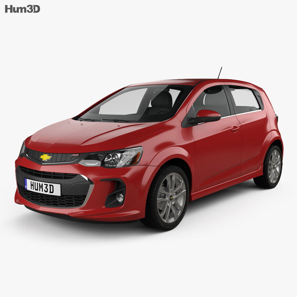 Chevrolet Sonic hatchback RS 2017 3d model