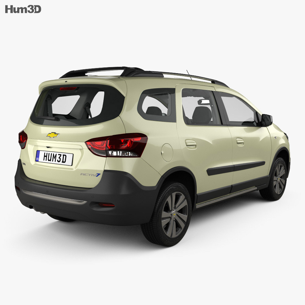 Chevrolet Spin Active with HQ interior 2018 3d model