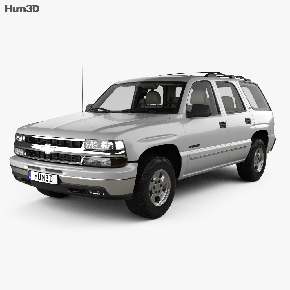 Chevrolet Tahoe LS with HQ interior 2002 3d model