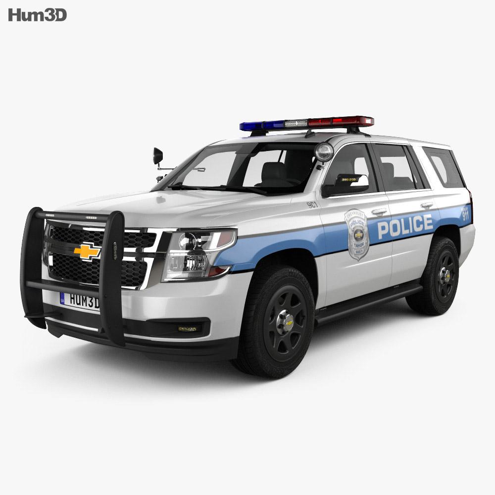 Chevrolet Tahoe Police 2016 3d model