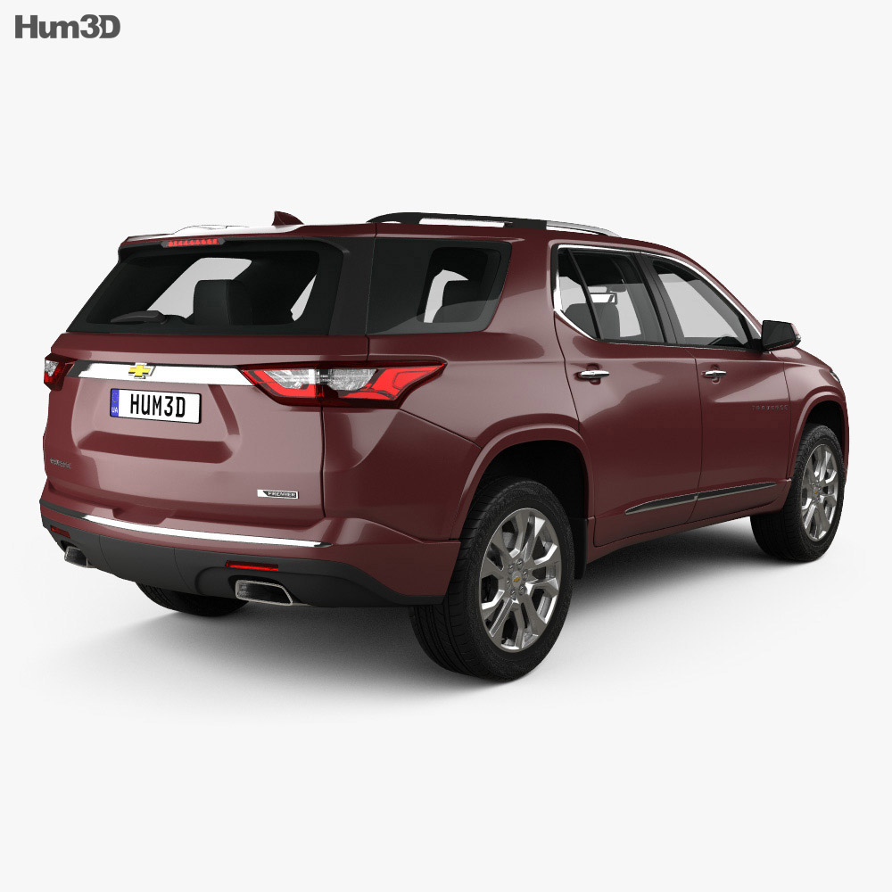 Chevrolet Traverse 2017 3d model back view