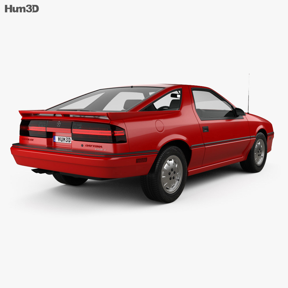 Chrysler Daytona Shelby Z 1987 3d model