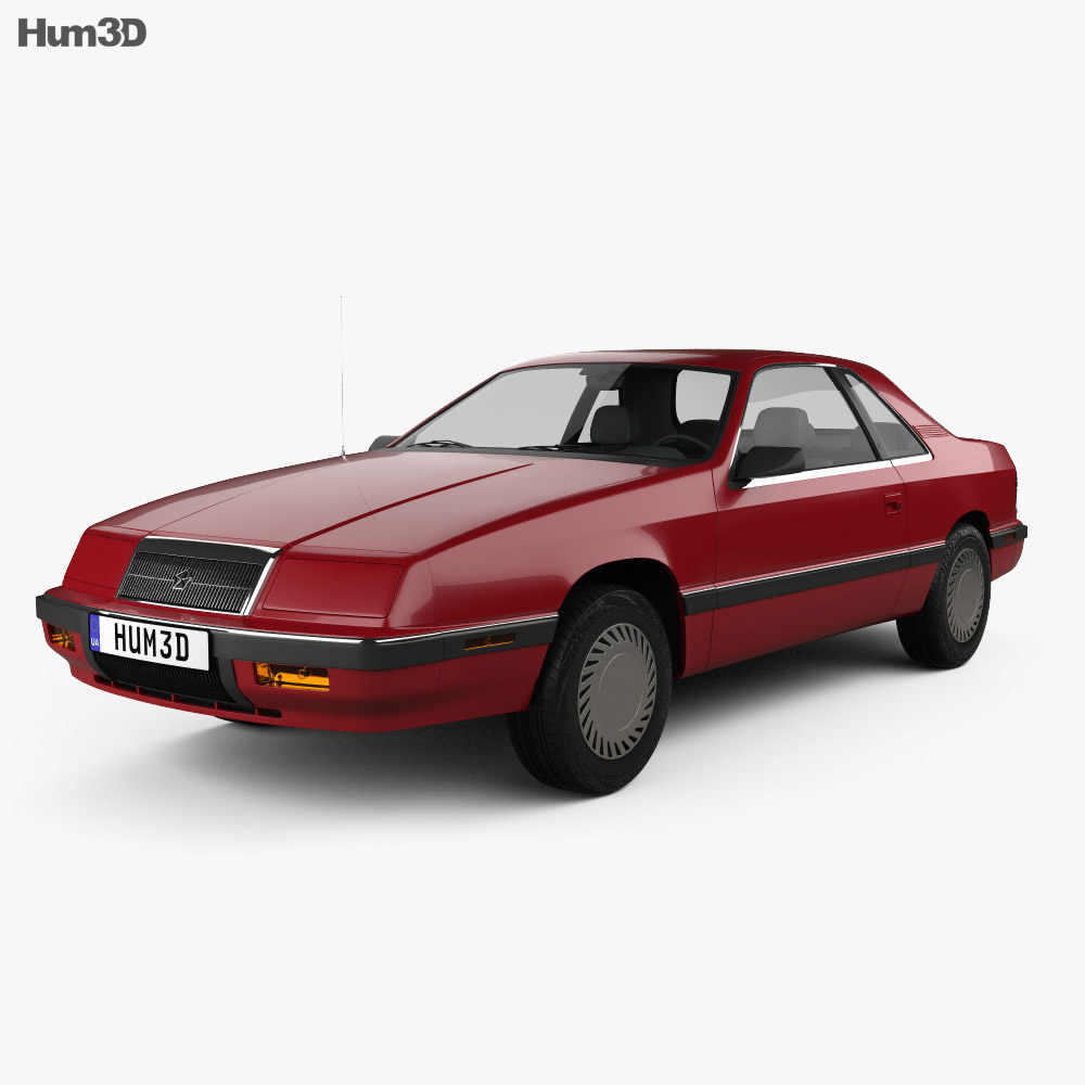 Chrysler LeBaron coupe 1987 3d model