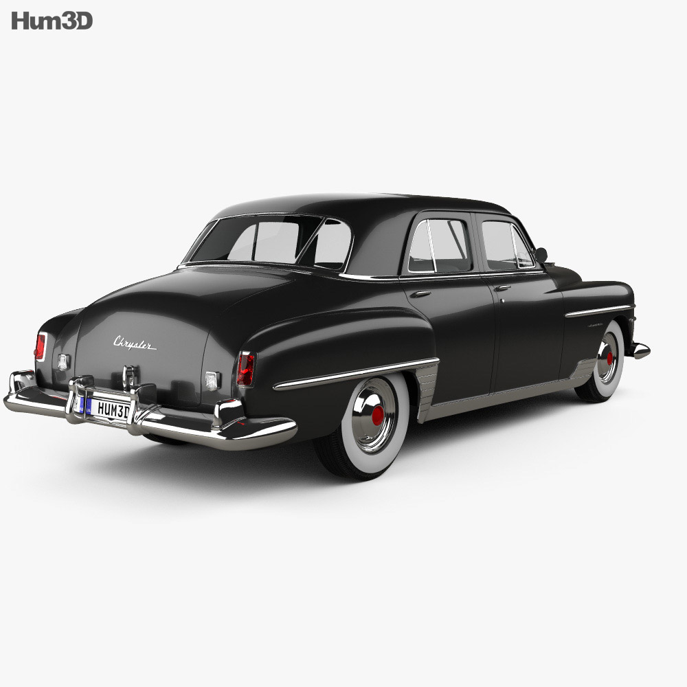 Chrysler New Yorker sedan 1950 3d model