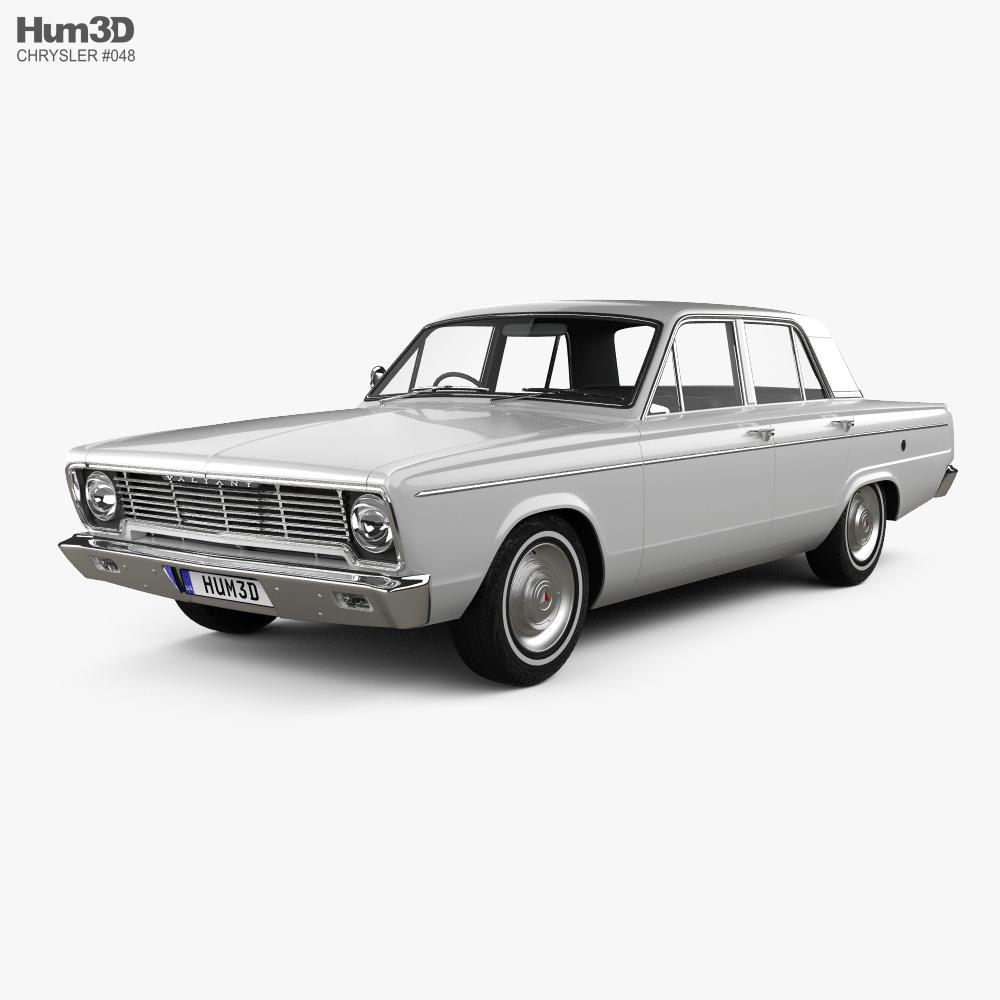 Chrysler Valiant 1966 3d model