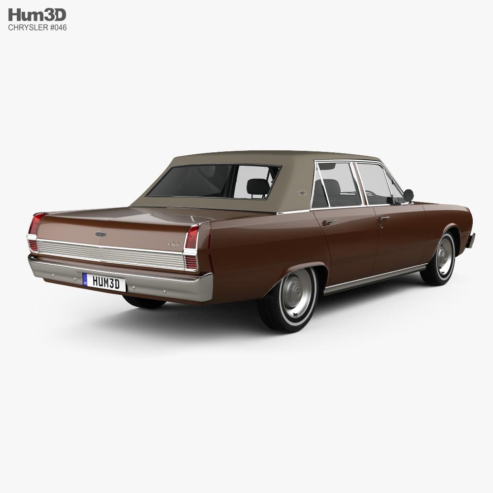 Chrysler Valiant VIP sedan 1969 3d model