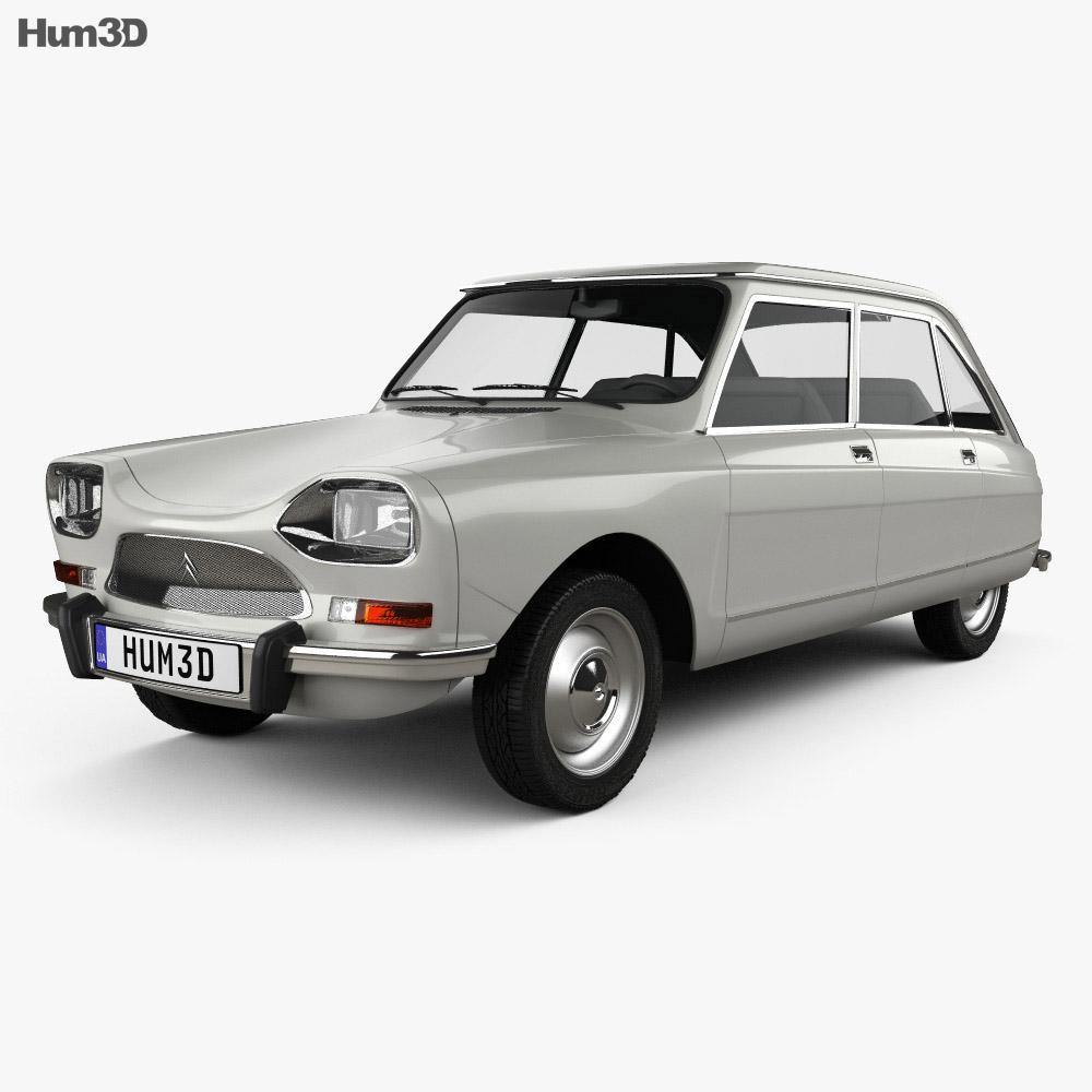 Citroen Ami 8 1969 3d model