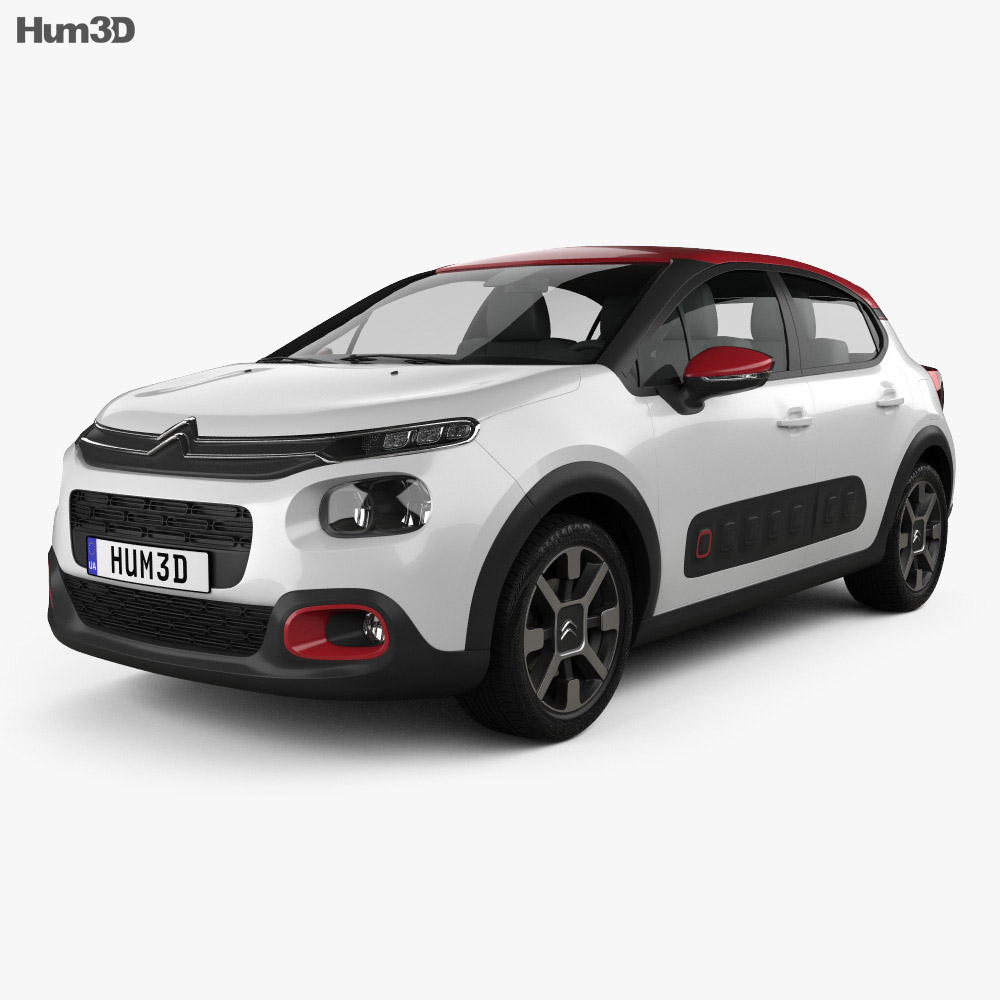 Discount Car Parts >> Citroen C3 2017 3D model - Hum3D