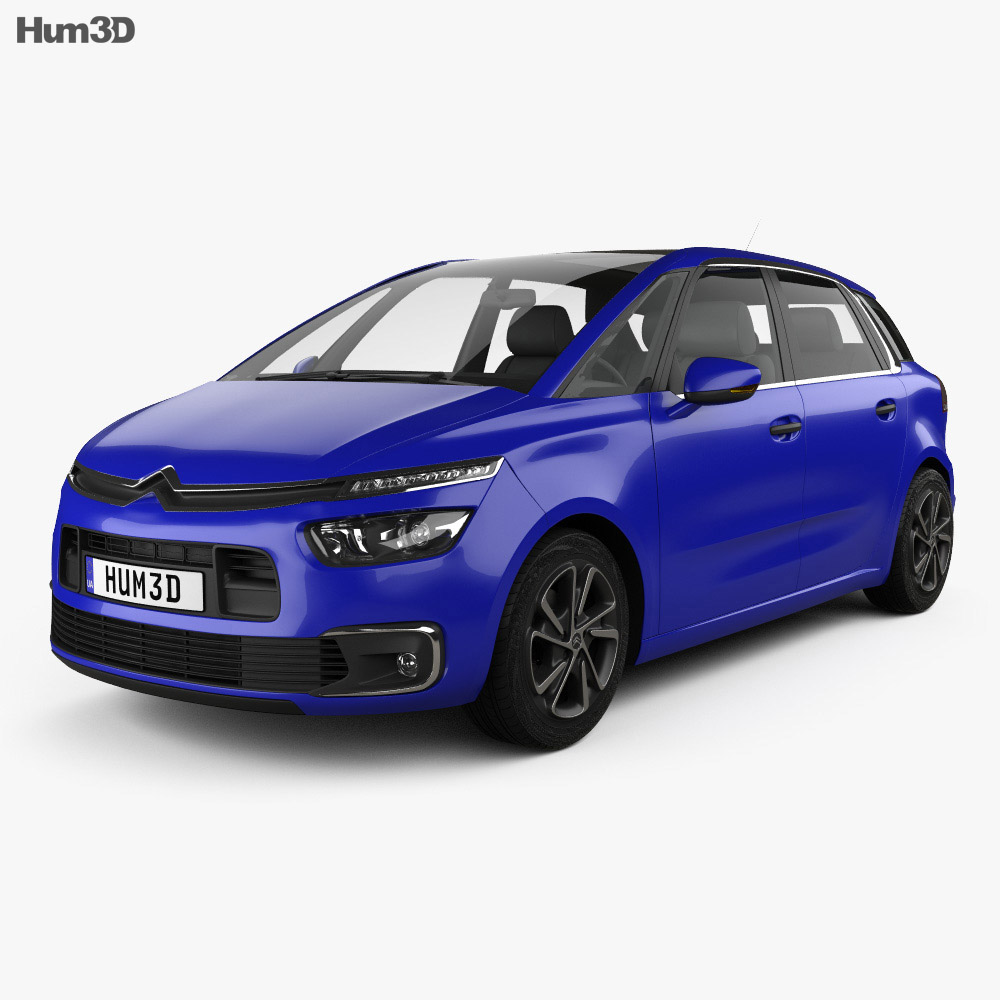 citroen c4 picasso 2016 3d model vehicles on hum3d. Black Bedroom Furniture Sets. Home Design Ideas