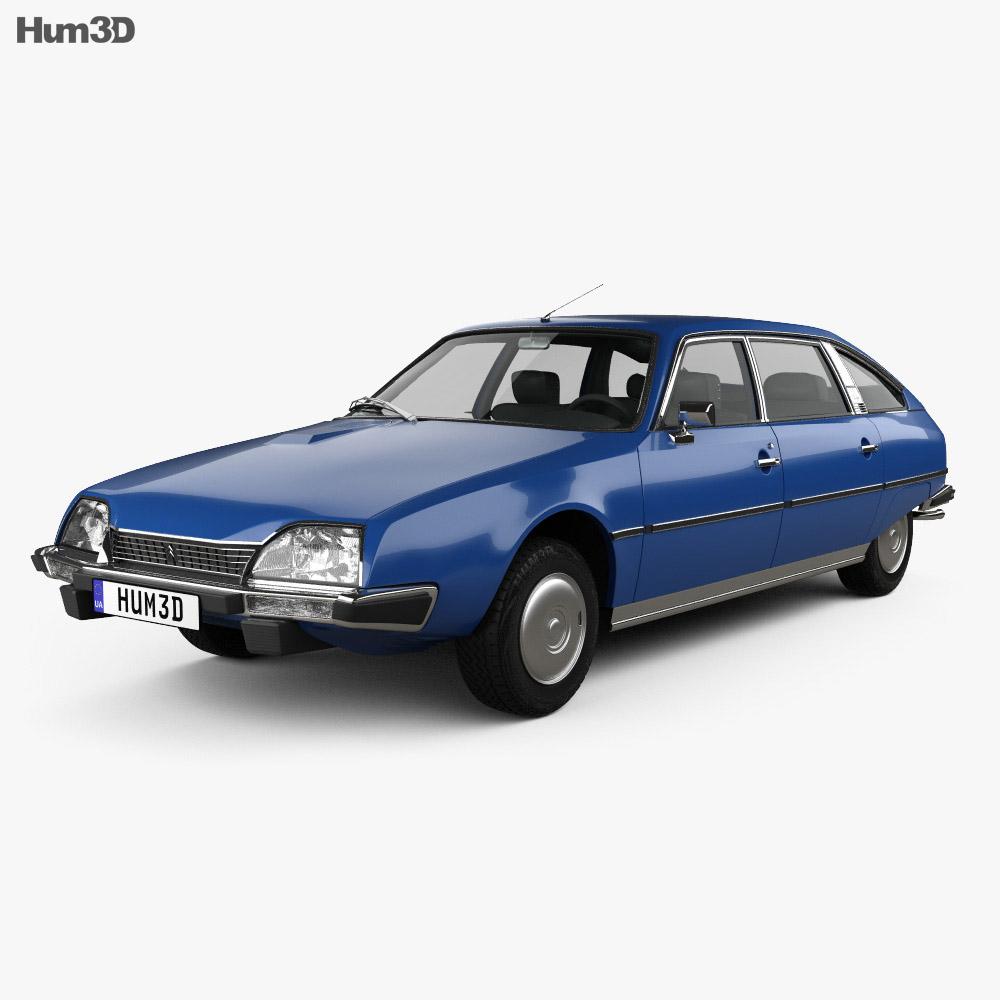Citroen CX 1975 3d model
