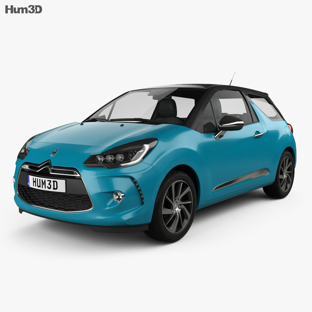 Citroen DS3 coupe 2014 3d model