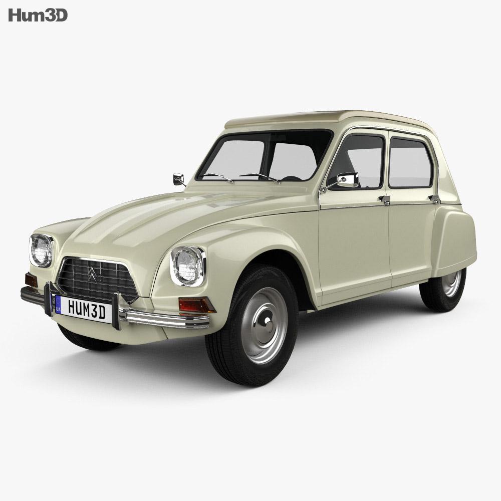 Citroen Dyane 1967 3d model