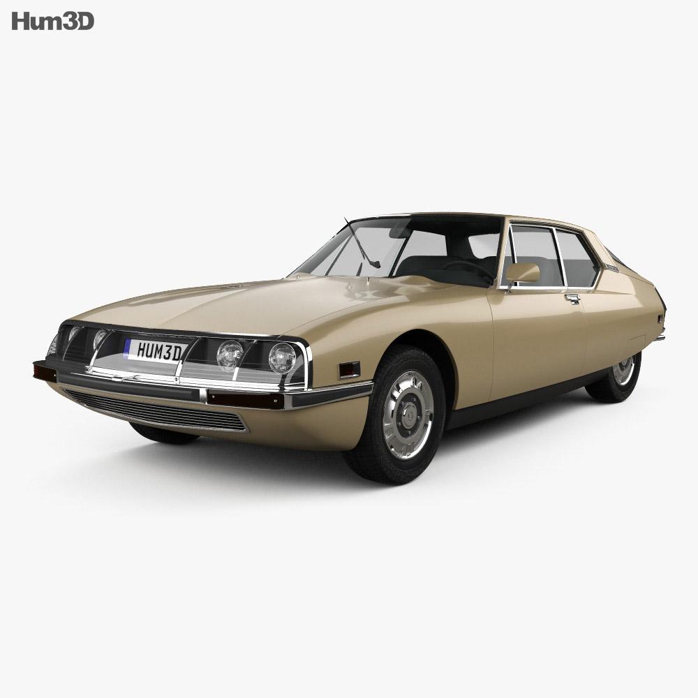 Citroen SM 1970 3d model