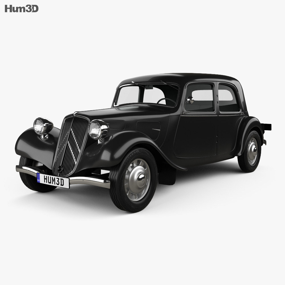 Citroen Traction Avant 1934 3d model