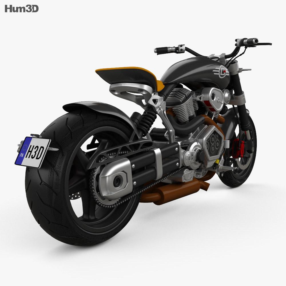 Confederate X132 Hellcat Speedster 2015 3d model back view