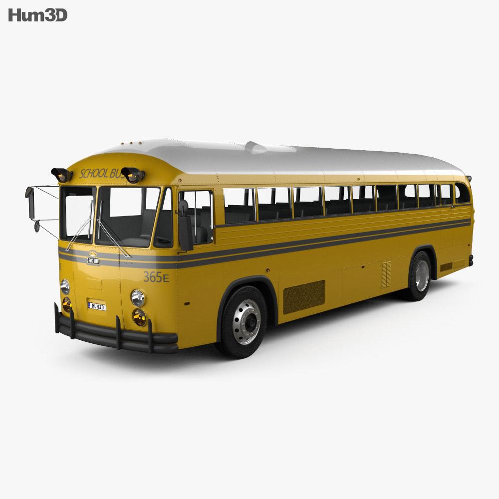 Crown Supercoach Bus 1977 3d model