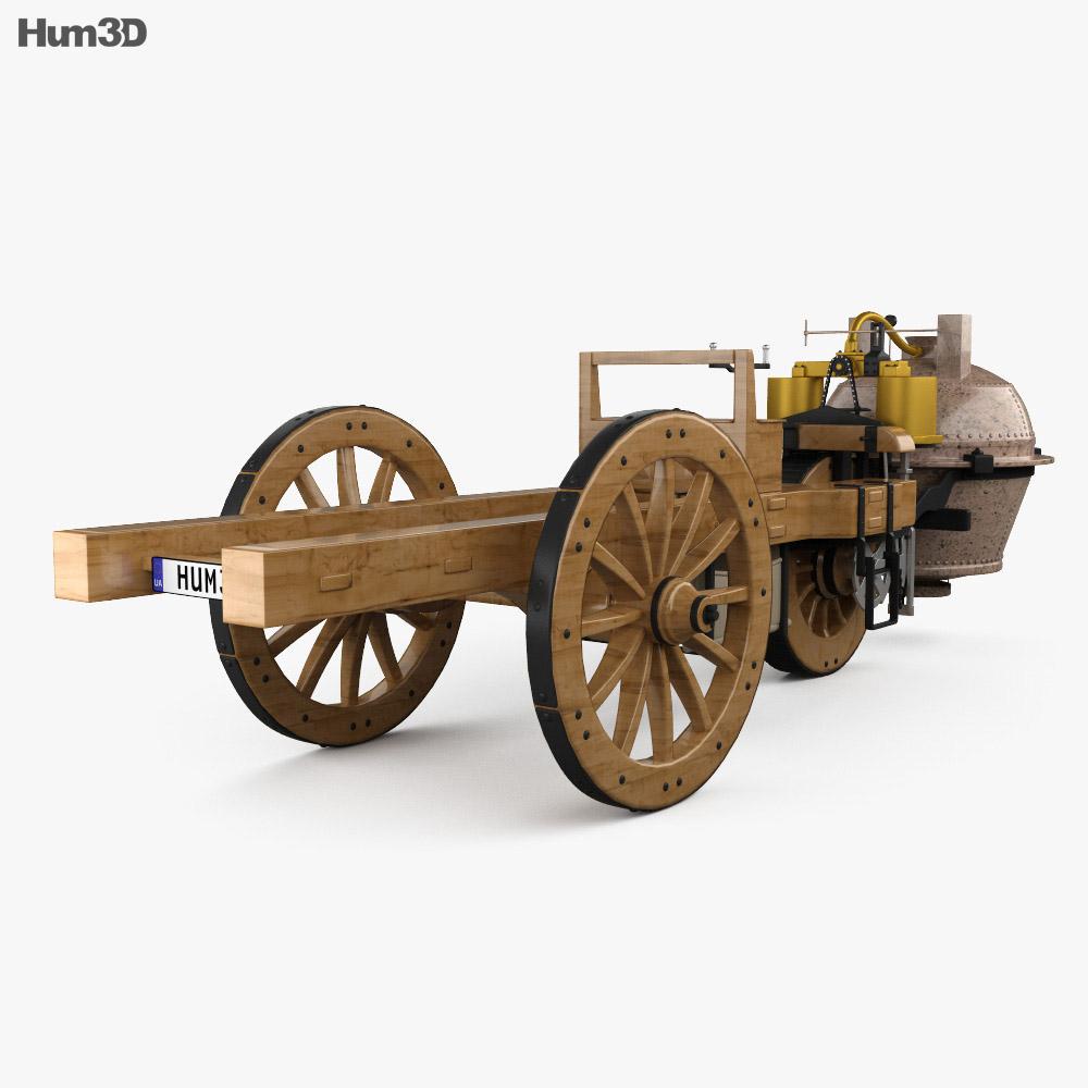 Cugnot Fardier a vapeur 1771 3d model