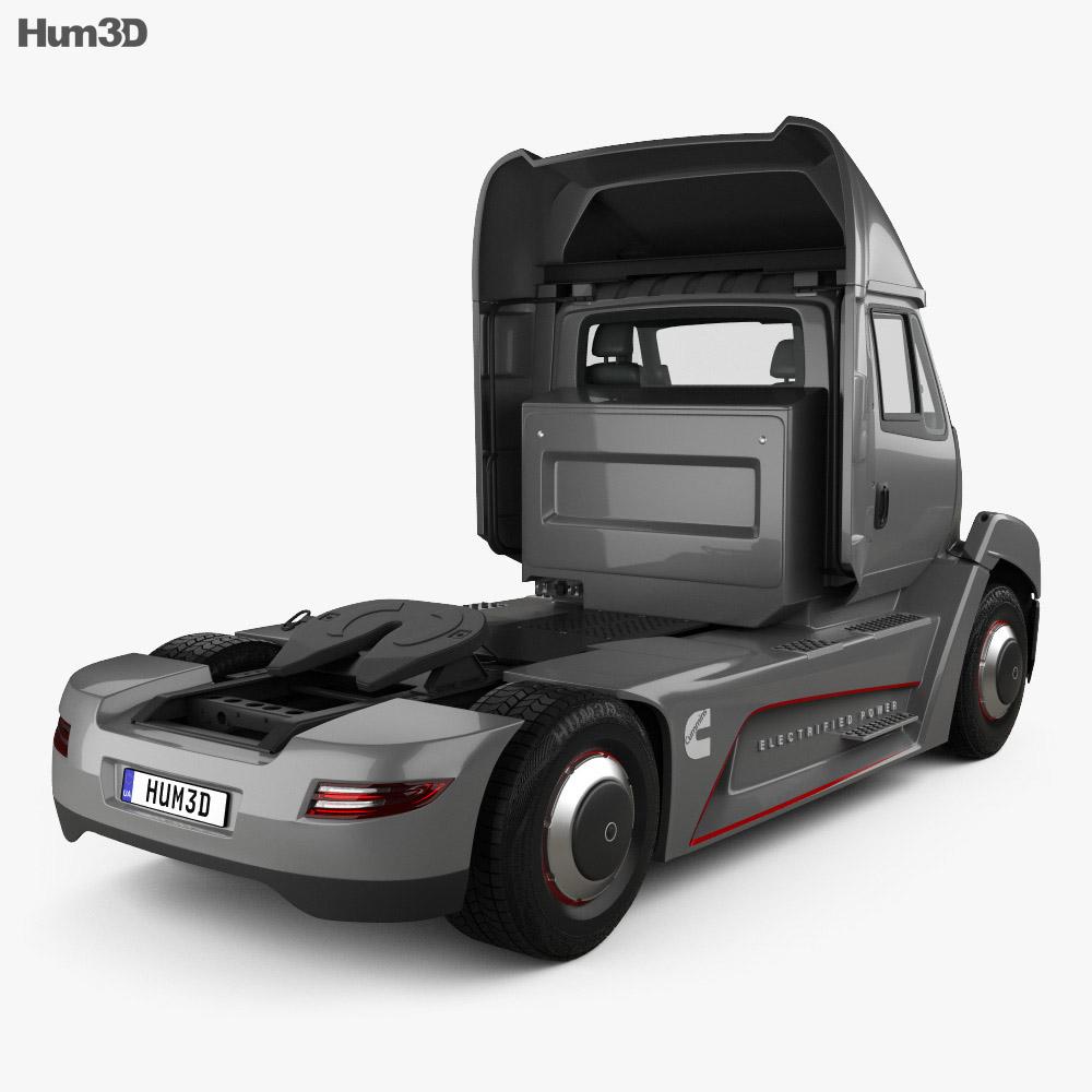 Cummins AEOS electric Tractor Truck 2018 3d model