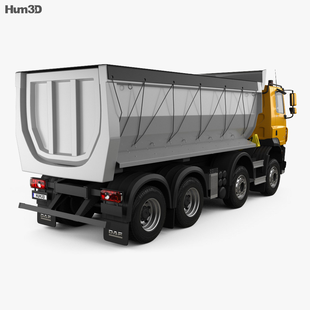 DAF CF Tipper Truck 2013 3d model