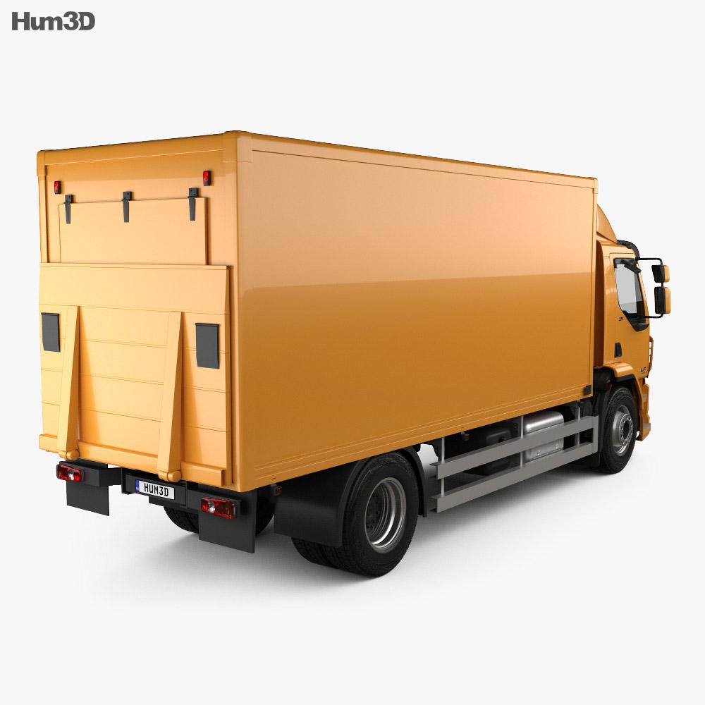 DAF LF Box Truck 2013 3d model