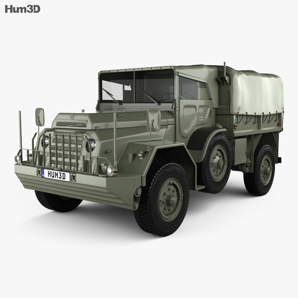DAF YA-126 Weapon Carrier 1952 3d model