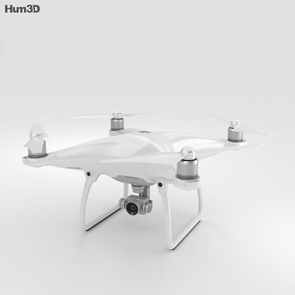 DJI Phantom 4 Camera Drone 3d model