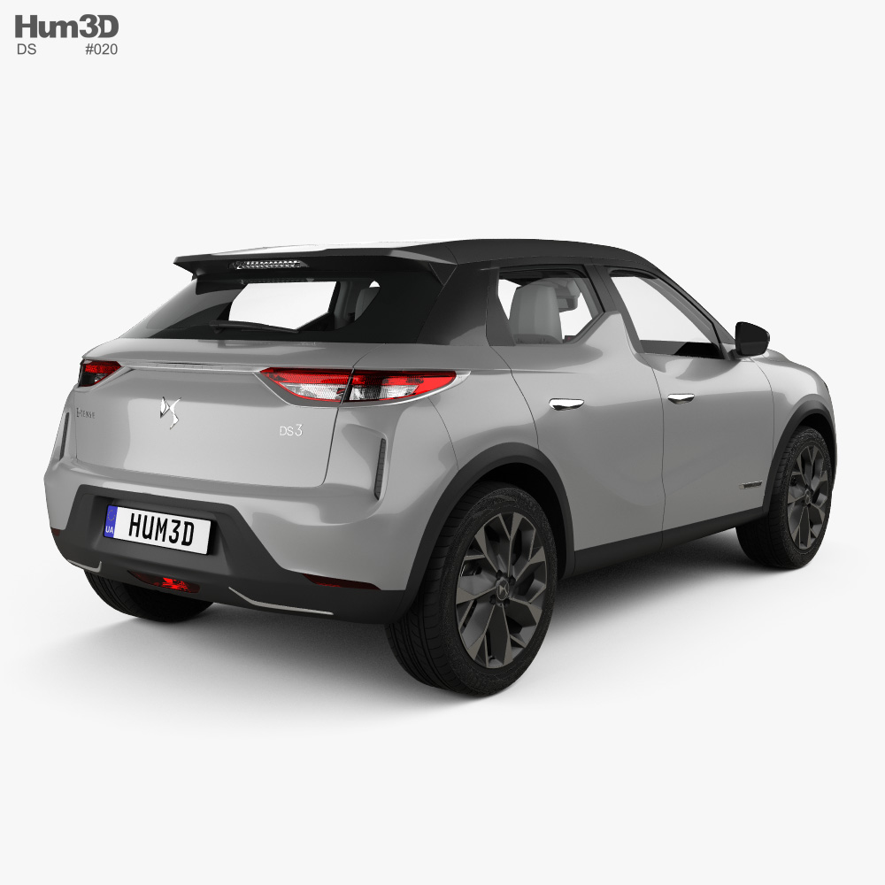DS 3 Crossback E-Tense with HQ interior 2019 3d model back view