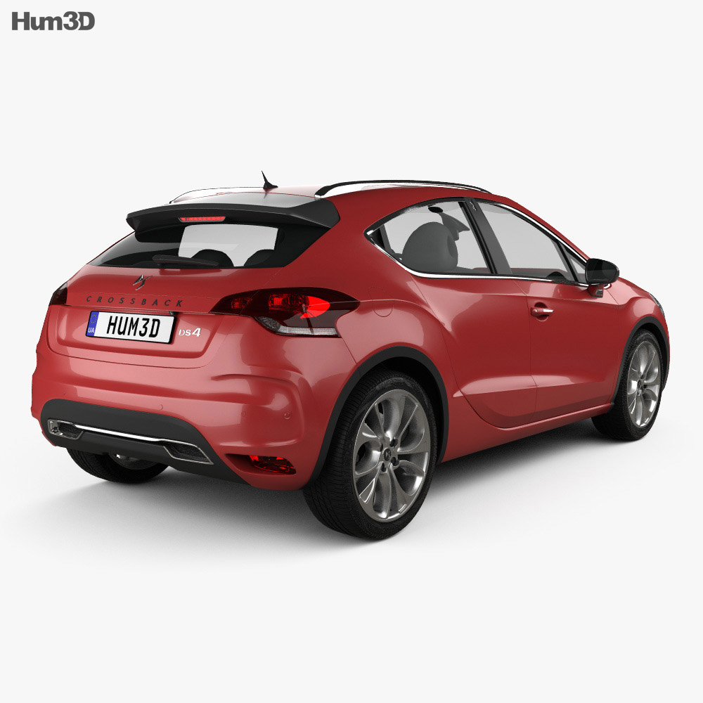 DS 4 Crossback 2015 3d model